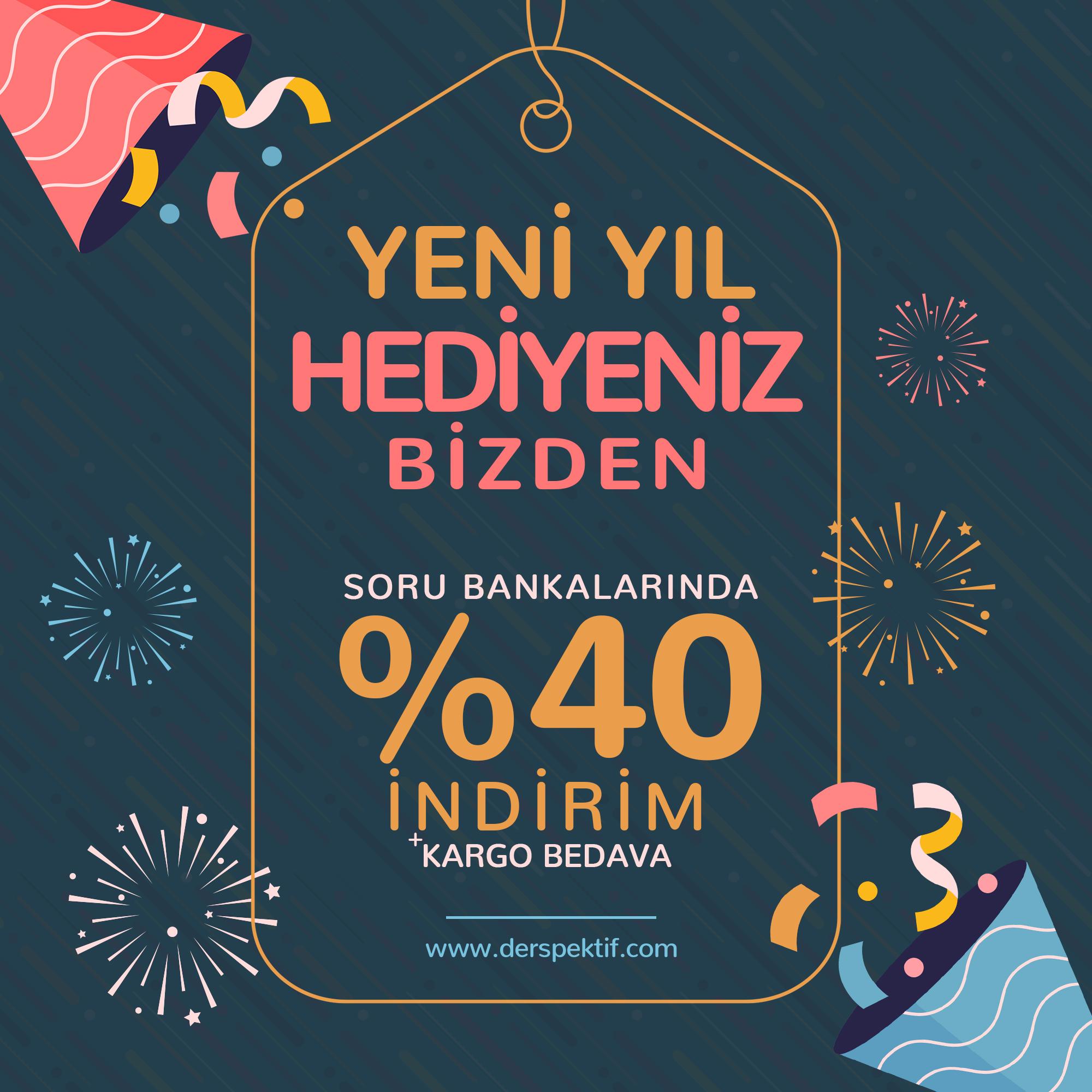Yeni Yıl %40 İndirim